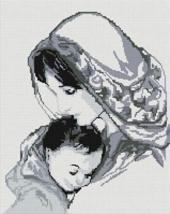 Мадонна з дитям SP043 Алмазна мозаїка IF