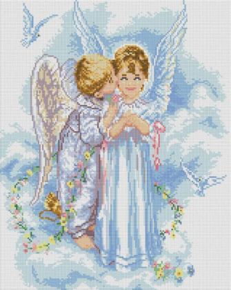 Діти ангелочки SP10 Алмазна мозаїка IF
