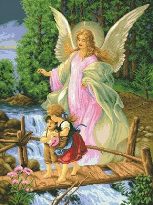 Ангел та діти SP026 Алмазна мозаїка IF
