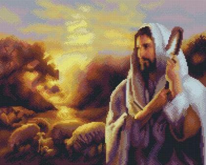 Ісус  Добрий Пастир SP015 Алмазна мозаїка IF
