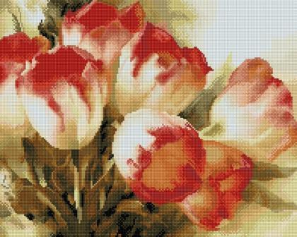 Тюльпани SP025 Алмазна мозаїка IF