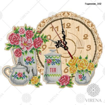 Годинник дерев'яний Годинник-102 VIRENA