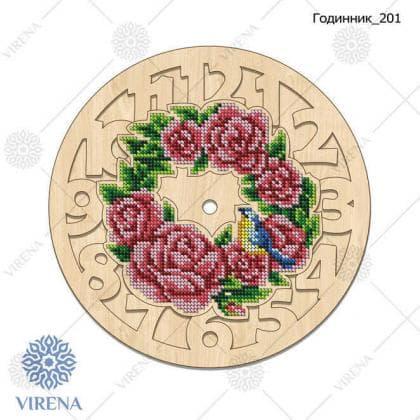 Годинник дерев'яний Годинник-201 VIRENA