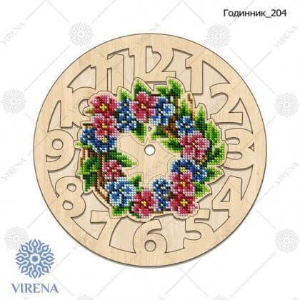 Годинник дерев'яний Годинник-204 VIRENA