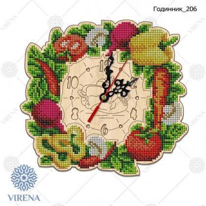 Годинник дерев'яний Годинник-206 VIRENA