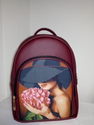 Рюкзак-сумка під вишивку М 1 С 1 Бордо ЮМА