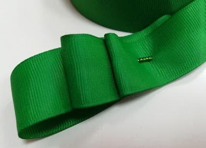 Стрічка репсова 2,5 см зелена