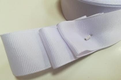 Стрічка репсова 2,5 см біла СТР-р біла