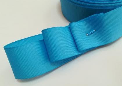 Стрічка репсова 2,5 см блакитна СТР-р блакитна