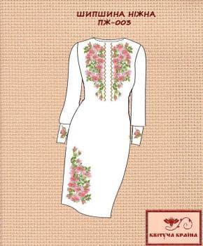 Заготовка  для плаття ПЖ-003 Квітуча країна