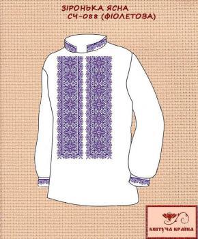 Заготовка  для сорочки СЧ-088 Фіолетова Квітуча країна