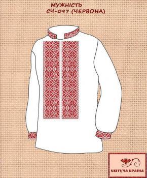 Заготовка  для сорочки СЧ-097 Червона Квітуча країна