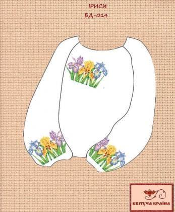 Заготовка підліткової блузки БП-014 Квітуча країна