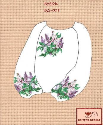 Заготовка підліткової блузки БП-018 Квітуча країна