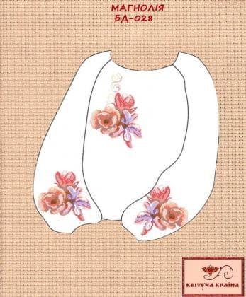 Заготовка підліткової блузки БП-028 Квітуча країна
