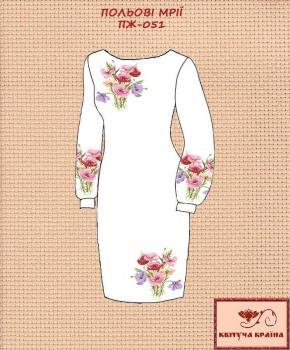 Заготовка  для плаття ПЖ-051 Квітуча країна