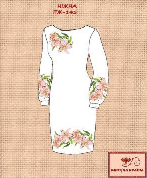 Заготовка  для плаття ПЖ-145 Квітуча країна