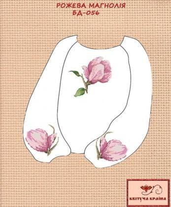 Заготовка підліткової блузки БП-056 Квітуча країна
