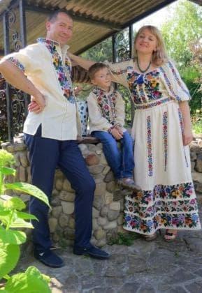 Заготовка для плаття з поясом ПЖ Борщівські мотиви 26-2.2 м Гармонія