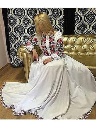 Заготовка для плаття з поясом ПЖ-19 рожеве-2.2 м Гармонія
