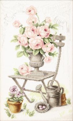 Літній натюрморт з трояндами