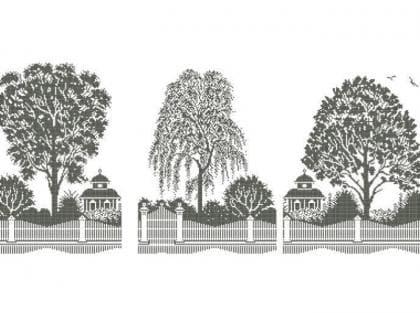 Дерева монохром