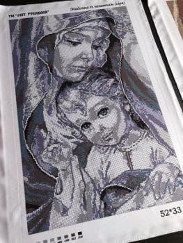 Мадонна з немовлям (срібло)