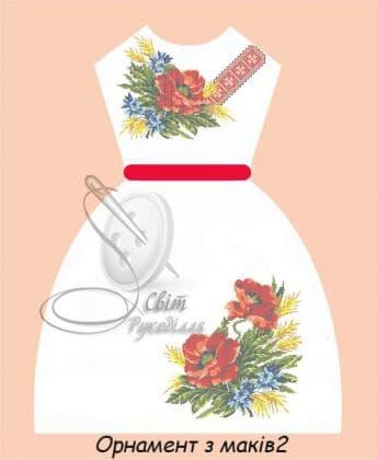 Плаття дитяче ПДбр Орнамент з маків 2 Світ рукоділля