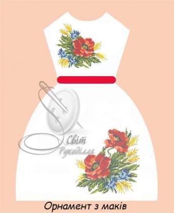 Плаття дитяче ПДбр Орнамент з маків Світ рукоділля