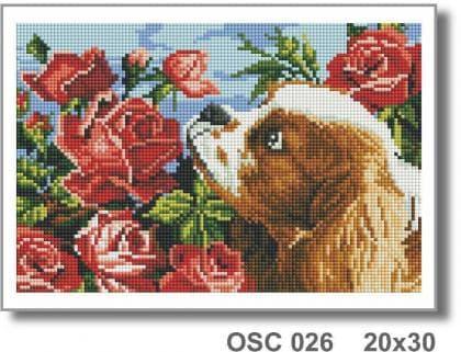 Цуценя і рози OSC 026 Твоє хоббі