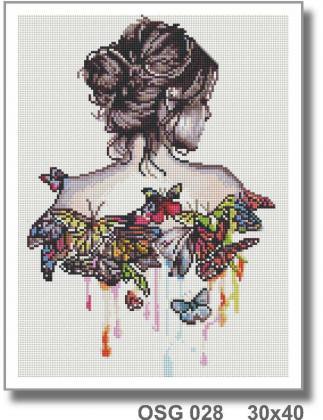 Дівчина і метелики OSG 028 Твоє хоббі