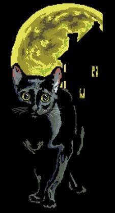 Чорний кіт П-204 Бісерок