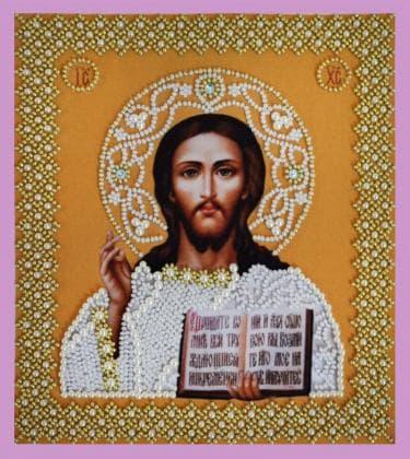Ікона Христа Спасителя. Р-207 Картини бісером
