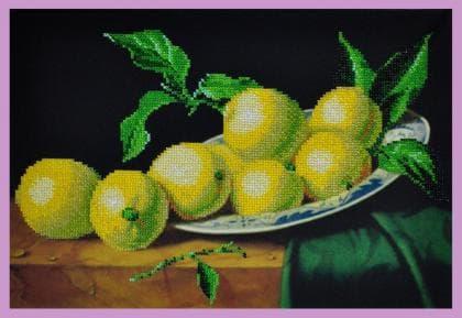 Натюрморт з лимонами Р-212 Картини бісером