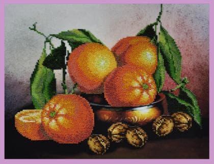 Натюрморт з апельсинами Р-217 Картини бісером