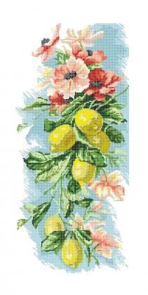 Квіти з лимонами П-252  Бісерок