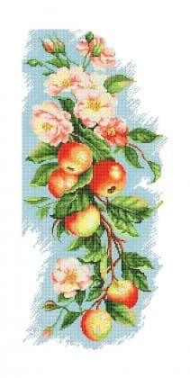 Квіти з яблуками П-253  Бісерок