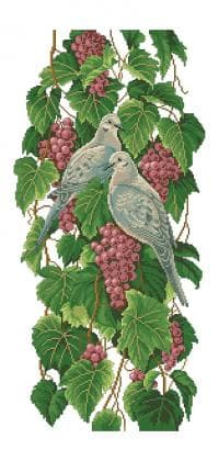 Горлиці на винограді П-254 Бісерок