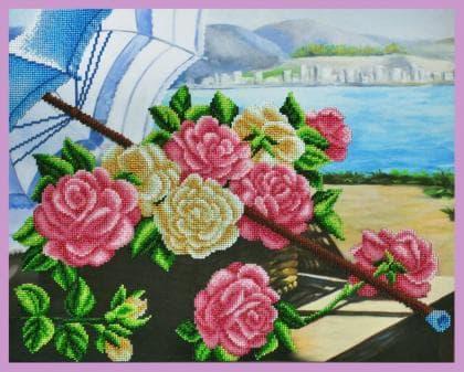 Троянди на березі Р-306 Картини бісером