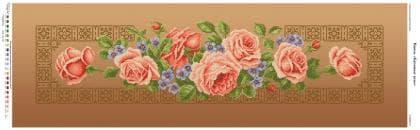 Кремові троянди П-3205 Бісерок