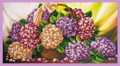 Натюрморт з гортензією Р-336 Картини бісером