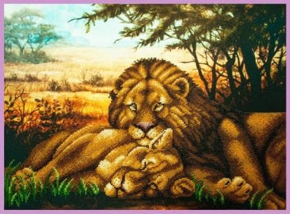 Левова ніжність Р-346 Картини бісером