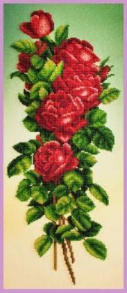 Букет червоних троянд Р-348 Картини бісером