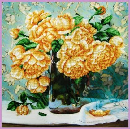 Натюрморт з трояндами Р-349 Картини бісером