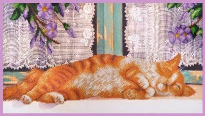 Рудий кіт Р-351 Картини бісером