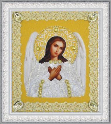 Ангел Охоронець золото ажур Р-372 Картини бісером