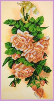 Вінтажні троянди Р-387 Картини бісером