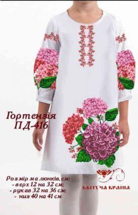 Заготовка плаття ПП-416 Квітуча країна