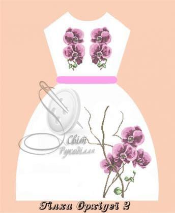 Плаття дитяче ПДбр Гілка орхідеї 2 Світ рукоділля