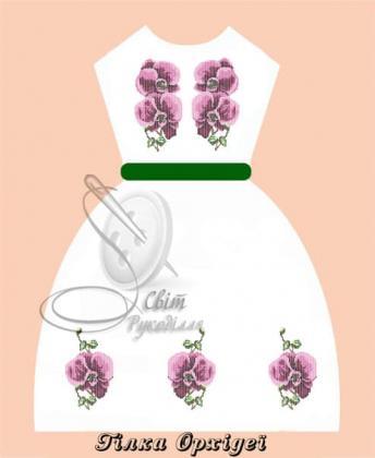 Плаття дитяче ПДбр Гілка орхідеї Світ рукоділля